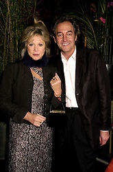 MISS PATTI BOYD former wife of rock star Eric Clapton, and MR ROD WESTON, at a reception in London on 10th November 2000.OIY 27