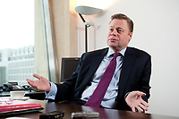 21 JAN 2010, BERLIN/GERMANY:<br /> Iaian Conn, Chief executive Refining and Marketing, Executive member of the BP board of directors, waehrend einem Interview, BP Buero Berlin<br /> IMAGE: 20100121-01-037