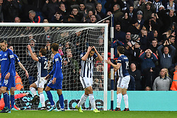 West Bromwich Albion's Ahmed Hegazy reacts as a header goes over the bar