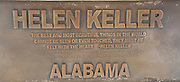 statue of Helen Keller in the Alabama state capitol building Montgomery, AL, USA