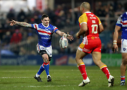 Wakefield Trinity's Danny Brough kicks during the Betfred Super League match at Belle Vue, Wakefield.
