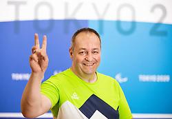 TOKYO, JAPAN --AUGUST 26: Francek Gorazd Tirsek Nani of Team Slovenia posing during photo session at Paralympic village on day 2 of the Tokyo 2020 Paralympic Games on August 26, 2021 in Tokyo, Japan. Photo by Vid Ponikvar / Sportida
