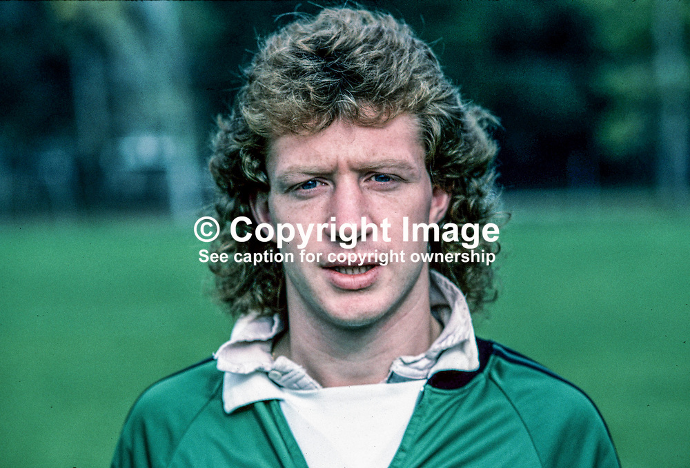 Jimmy Nicholl, footballer, Manchester United and N Ireland, 198011000373a.<br /> <br /> Copyright Image from Victor Patterson, 54 Dorchester Park, Belfast, UK, BT9 6RJ<br /> <br /> t: +44 28 9066 1296 (from Rep of Ireland 048 9066 1296)<br /> m: +44 7802 353836<br /> <br /> victorpattersonbelfast@gmail.com<br /> www.victorpatterson.com<br /> <br /> Please see my Terms and Conditions of Use at https://www.victorpatterson.com/page2<br /> It is IMPORTANT that you familiarise yourself with them.<br /> <br /> Images used online incur an additional cost and must be visibly watermarked i.e. © Victor Patterson within the body of the image and copyright metadata must not be deleted. Images used on the Internet have a size restriction of 4kbs and are chargeable at rates available at victorpatterson.com.<br /> <br /> This image is only available for the use of the download recipient i.e. television station, newspaper, magazine, book publisher, etc, and must not be passed on to any third party. It is also downloaded on condition that each and every subsequent usage is notified within 7 days to victorpattersonbelfast@gmail.com<br /> <br /> The right of Victor Patterson to be identified as the author is asserted in accordance with The Copyright Designs And Patents Act (1988). All moral rights are asserted.