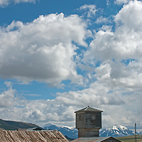 The Absaroka Range rises above a ranch in the Paradise Valley in Montana.