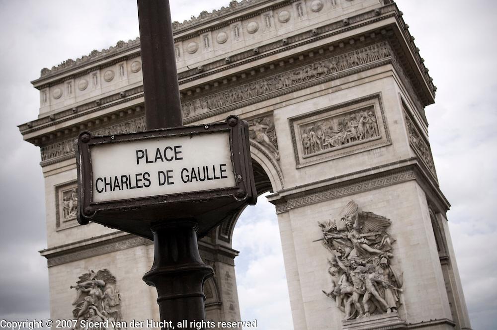 Around the Arc de Triomphe, Paris, France.