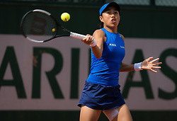 May 29, 2019 - Paris, FRANCE - Shuai Zhang of China in action during her second-round match at the 2019 Roland Garros Grand Slam tennis tournament (Credit Image: © AFP7 via ZUMA Wire)