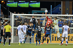 August 29, 2018 - San Jose, California, United States - San Jose, CA - Wednesday August 29, 2018: Andrew Tarbell during a Major League Soccer (MLS) match between the San Jose Earthquakes and FC Dallas at Avaya Stadium. (Credit Image: © John Todd/ISIPhotos via ZUMA Wire)