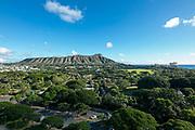 Diamond Head, Kapiolani Park, Waikiki, Honolulu, Oahu, Hawaii