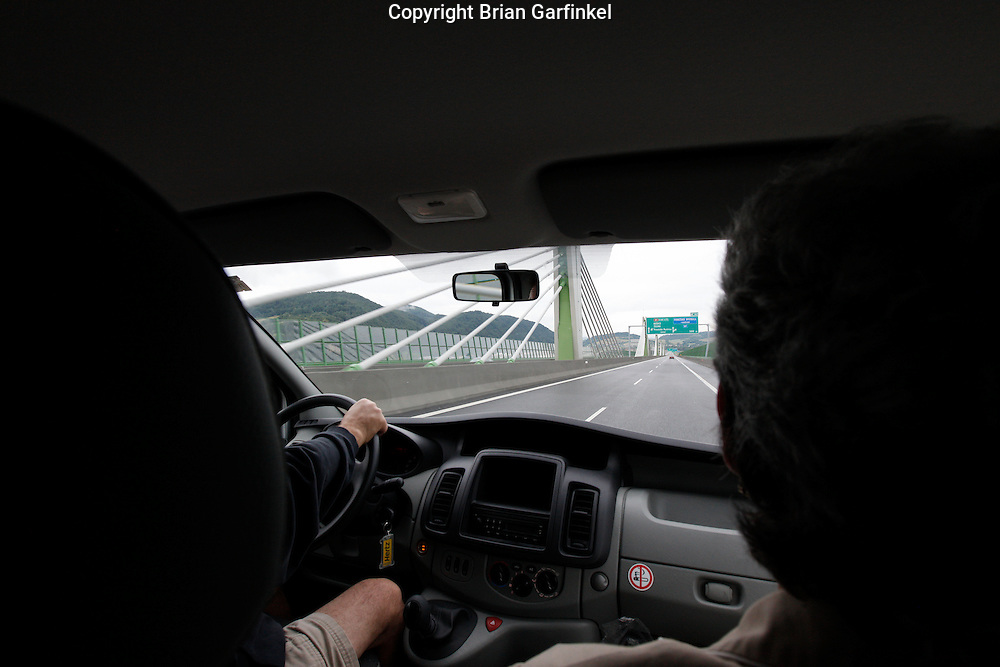 Driving in the car on the way to Zilina, Slovakia on Friday July 1st 2011. (Photo by Brian Garfinkel)