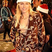 Premiere Polar Express, Marit van Bohemen met kerstmannenmuts