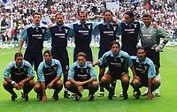 Fotball: oben v.l.: Paolo NEGRO, Sinisa MIHAJLOVIC, Giuseppe PANCARO, Dino BAGGIO, Allesandro NESTA, Angelo PERUZZI<br />vorne v.l.: Diego SIMEONE, Claudio LOPEZ, Karel POBORSKY, Hernan CRESPO, Stefano FIORE<br />                      Fussballmannschaft    Lazio Rom