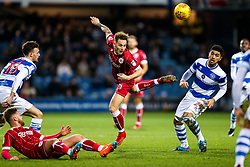 Josh Brownhill of Bristol City is challenged by Massimo Luongo of Queens Park Rangers - Rogan/JMP - 23/12/2017 - Loftus Road - London, England - Queens Park Rangers v Bristol City - Sky Bet Championship.
