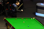 Stephen Maguire of Scotland celebrates his win as he pots the winning ball. The Final, Stephen Maguire of Scotland v Stuart Bingham of England. Welsh open snooker 2013, Newport centre in Newport, South Wales on Sunday 17th Feb 2013. pic by Andrew Orchard, Andrew Orchard sports photography,
