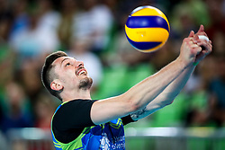 Dejan Vincic of Slovenia during volleyball match between Slovenia and Chile in Group A of FIVB Volleyball Challenger Cup Men, on July 3, 2019 in Arena Stozice, Ljubljana, Slovenia. Photo by Matic Klansek Velej / Sportida