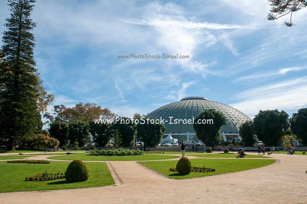 Rosa Mota Pavilion. A sport, concert and exhibit hall in Crystal Palace Gardens (Jardins do Palacio de Cristal), Porto, Portugal