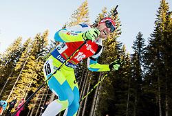 Klemen Bauer (SLO) competes during Men 12,5 km Pursuit at day 3 of IBU Biathlon World Cup 2015/16 Pokljuka, on December 19, 2015 in Rudno polje, Pokljuka, Slovenia. Photo by Vid Ponikvar / Sportida