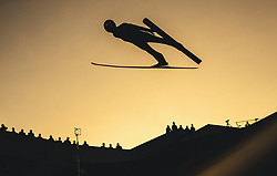 29.09.2018, Energie AG Skisprung Arena, Hinzenbach, AUT, FIS Ski Sprung, Sommer Grand Prix, Hinzenbach, im Bild David Haagen (AUT) // David Haagen of Austria during FIS Ski Jumping Summer Grand Prix at the Energie AG Skisprung Arena, Hinzenbach, Austria on 2018/09/29. EXPA Pictures © 2018, PhotoCredit: EXPA/ JFK