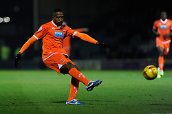 Blackpool's Ricardo Fuller takes a shot at goal. - Photo mandatory by-line: Joe Meredith/JMP - Tel: Mobile: 07966 386802 03/12/2013 - SPORT - Football - Yeovil - Huish Park - Yeovil Town v Blackpool - Sky Bet Championship