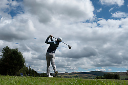 Gleneagles, Scotland, UK; 9 August, 2018.  Day two of European Championships 2018 competition at Gleneagles. Men's and Women's Team Championships Round Robin Group Stage - 2nd Round. Four Ball Match Play format. Liam Johnstone of team GB