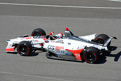 April 30, 2018 - Indianapolis, IN, U.S. - INDIANAPOLIS, IN - APRIL 30: Marco Andretti (98) during an Open Test on April 30, 2018, at the Indianapolis Motor Speedway in Indianapolis, IN. (Photo by James Black/Icon Sportswire) (Credit Image: © James Black/Icon SMI via ZUMA Press)
