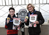 Olympic Gold Medalists Meryl Davis and Charlie White Visit Empire State Building
