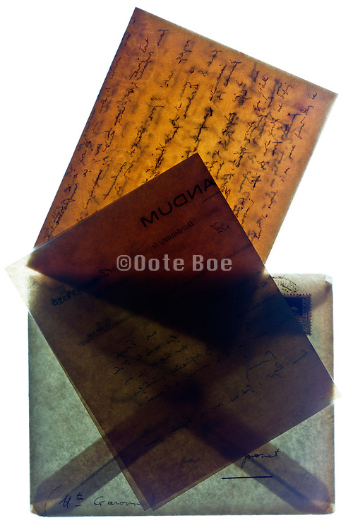 old handwritten letter with envelope