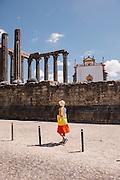 Roamn temple in the walled town of Évora, Alentejo, UNESCO World Heritage Site