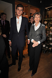 The HON.ALEXANDER SPENCER-CHURCHILL and his mother LADY JANE SPENCER-CHURCHILL at a party to celebrate 25 years of the David Linley store , 60 Pimlico Road, London on 16th November 2010.