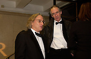 Morgan Entrekin and Ian McEwan, The Man Booker prize awards ceremony 2004 . The Royal Horticultural Hall, 19 October 2004. ONE TIME USE ONLY - DO NOT ARCHIVE  © Copyright Photograph by Dafydd Jones 66 Stockwell Park Rd. London SW9 0DA Tel 020 7733 0108 www.dafjones.com