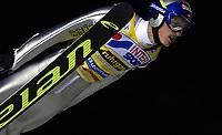 Hopp: verdenscup WC. 22.12.2001 Predazzo, Italien,<br />Der Pole Adam Malysz bei seinem Sieg am Samstag (22.12.2001) beim Weltcup Skispringen im italienischen Predazzo.<br /><br />Foto: Digitalsport