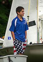Lake Winnipesaukee Sailing Assocation's annual youth regatta from WYC Thursday, July 26, 2013.  Karen Bobotas/for the Laconia Daily Sun