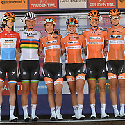 Boels-Dolmans (Ned) photocall at Prudential RideLondon Classique at the Mall on 28 July 2018, London, UK
