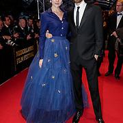 NLD/Utrecht/20121005- Gala van de Nederlandse Film 2012, Anna Drijver en partner Benja Bruijning
