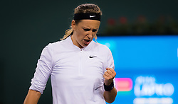 March 6, 2019 - Indian Wells, USA - Victoria Azarenka of Belarus in action during the first round at the 2019 BNP Paribas Open WTA Premier Mandatory tennis tournament (Credit Image: © AFP7 via ZUMA Wire)