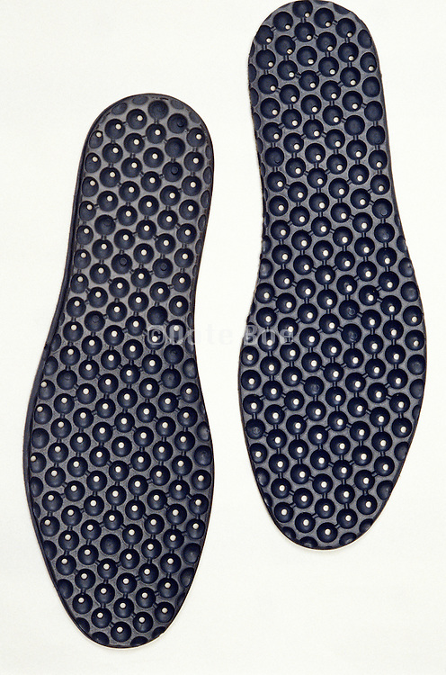 pair of rubber insoles