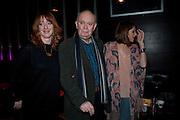 ELIZABETH BERRINGTON; ALAN AYCKBOURN; KARA TOINTON, Absent Friends - press night  afterparty. Mint Leaf. Haymarket. London. Thursday 9 February 2012