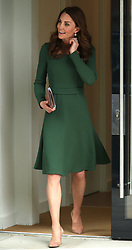 The Duchess of Cambridge leaves the Anna Freud Centre in London where she opened their new building, The Kantor Centre of Excellence.