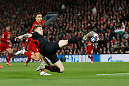 Kieran Trippier of Atletico Madrid gets behind the Liverpool defence only to cure into the side netting during the UEFA Champions League match at Anfield, Liverpool. Picture date: 11th March 2020. Picture credit should read: Darren Staples/Sportimage