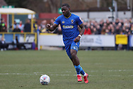 AFC Wimbledon defender Deji Oshilaja (4) dribbling during the EFL Sky Bet League 1 match between AFC Wimbledon and Oxford United at the Cherry Red Records Stadium, Kingston, England on 10 March 2018. Picture by Matthew Redman.