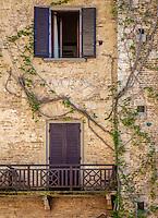 SAN GIMIGNANO, ITALY - CIRCA MAY 2015:  Typical windows  in San Gimignano in Tuscany