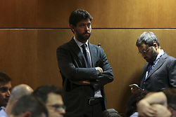 October 31, 2017 - Na - Lisbon, 10/30/2017 - Press conference previewing the match of the matchday 4 of group D of the Champions League 2017/18, to be played tomorrow at the Alvalade stadium in Lisbon. Andrea Agnelli  (Credit Image: © Atlantico Press via ZUMA Wire)