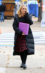 November 9, 2016 - New York, New York, United States - Actress Sarah Paulson was on the Brooklyn set of the new movie 'Ocean's Eight' on November 9 2016 in New York City  (Credit Image: © Zelig Shaul/Ace Pictures via ZUMA Press)