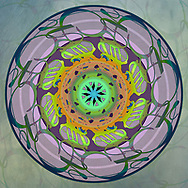 """Mandala design created from the single word, """"Mother""""."""