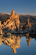 Sunrise light on Tufa Towers below the High Sierra Peaks, Mono Lake, Eastern Sierra, California