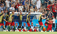Cristiano Ronaldo of Portugal celebrates his goal with teammates during the 2018 FIFA World Cup Russia, Group B football match between Portugal and Spain on June 15, 2018 at Fisht Stadium in Sotschi, Russia - Photo Tarso Sarraf / FramePhoto / ProSportsImages / DPPI