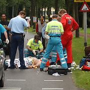Ongeval Zuiderzee - Bestevear Huizen, fietser aangereden, arts traumaheli