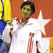 2. WOMEN'S WORLD BOXING CHAMPIONSHIPS.<br /> Turkey's Derya Aktas winner silver medal. Dilek Sabanci Sport Hall Antalya/Turkey<br /> Photo by Aykut AKICI/TurkSporFoto