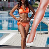 Renata Gyorgyi participates the Miss Bikini Hungary beauty contest held in Budapest, Hungary on August 29, 2010. ATTILA VOLGYI