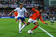 England defender Kyle Walker (Manchester City)tussles with Netherlands Midfielder Georginio Wijnaldum (Liverpool) during the UEFA Nations League semi-final match between Netherlands and England at Estadio D. Afonso Henriques, Guimaraes, Portugal on 6 June 2019.