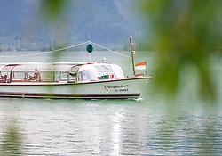 THEMENBILD - die MS Großglockner auf dem Zell See. Dieses Schiff wird zur Überfahrt von Zell am See nach Thumersbach genutzt, aufgenommen am 10. Mai 2018, Zell am See, Österreich // the MS Großglockner on the Zell lake. This ship is used to cross from Zell am See to Thumersbach on 2018/05/10, Zell am See, Austria. EXPA Pictures © 2018, PhotoCredit: EXPA/ Stefanie Oberhauser
